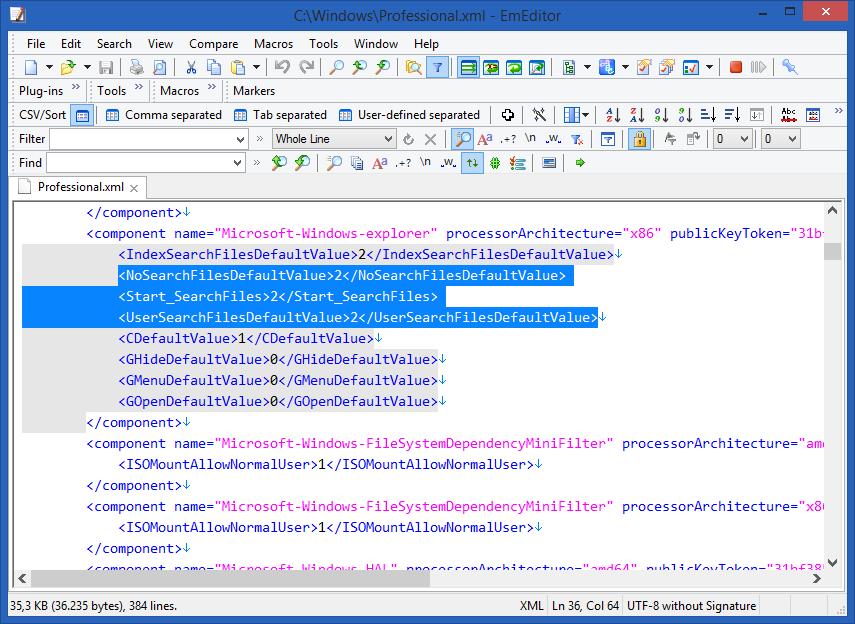 Emurasoft EmEditor Professional windows