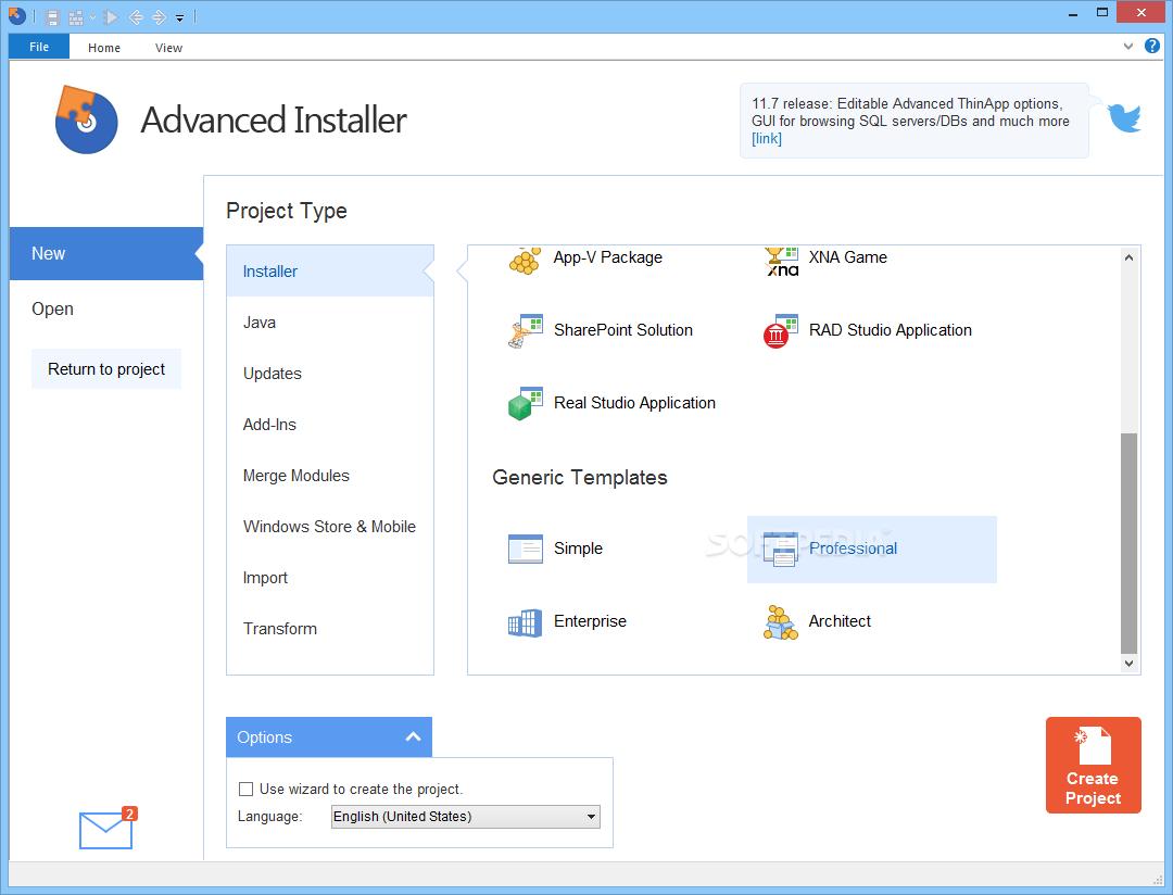 Advanced Installer Professional latest version