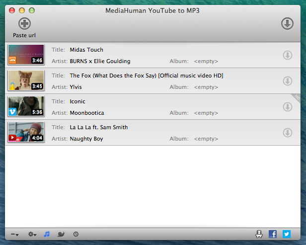 MediaHuman YouTube to MP3 Converter windows