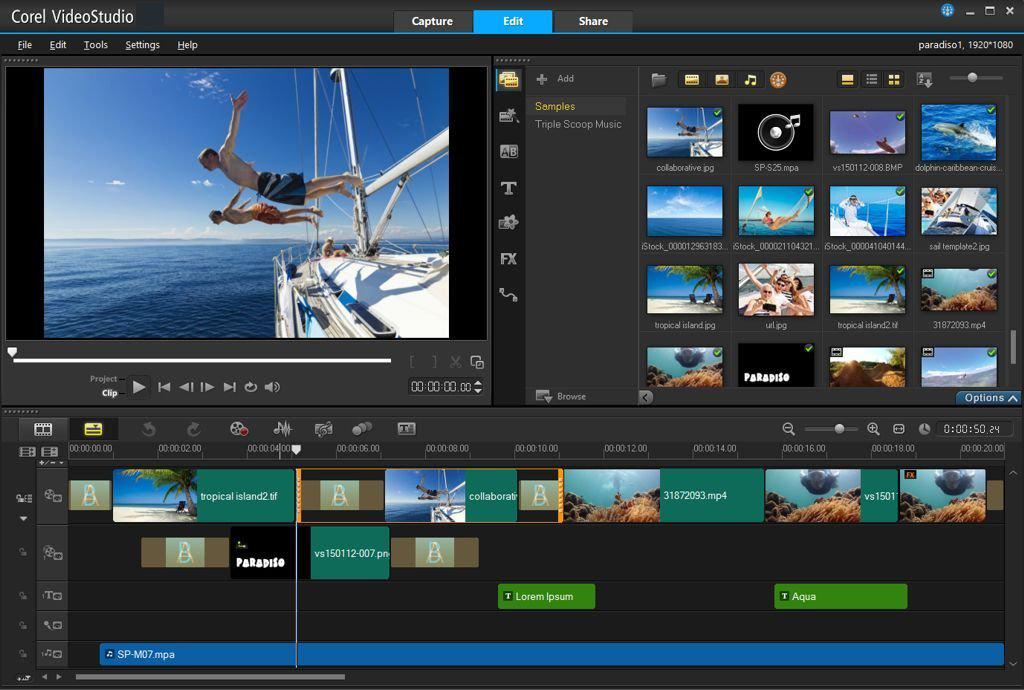 Corel VideoStudio windows