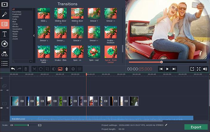 Movavi Video Editor windows