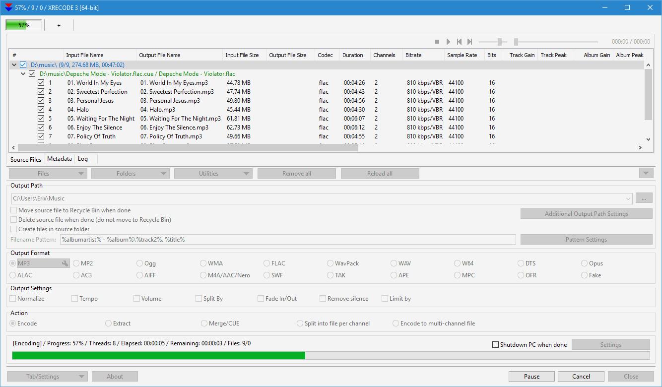 XRECODE3 windows