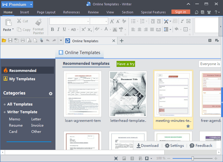 WPS Office Premium windows