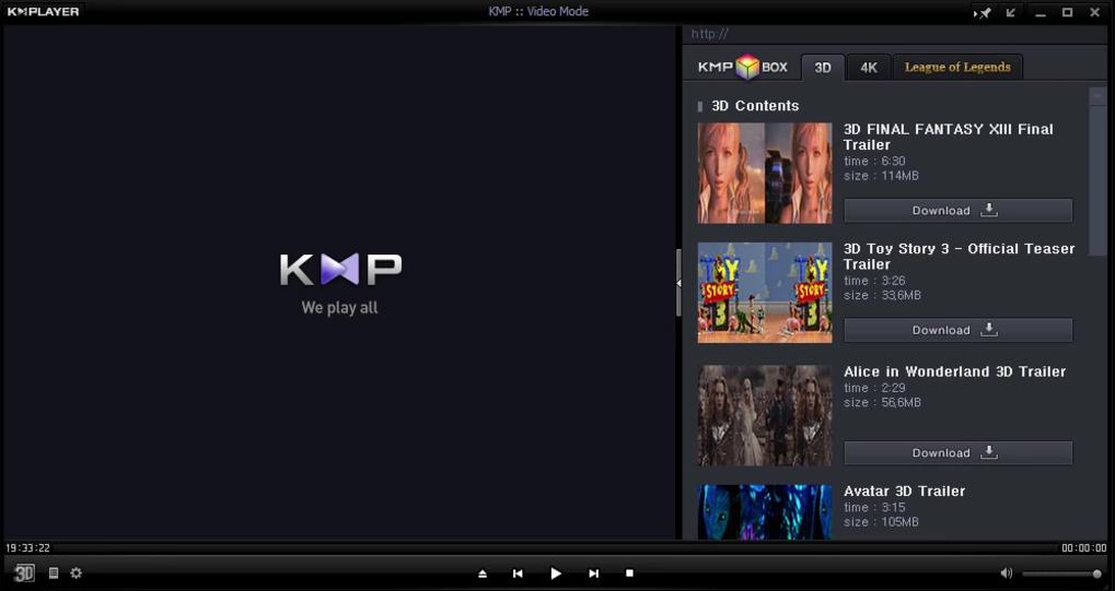 KMPlayer window