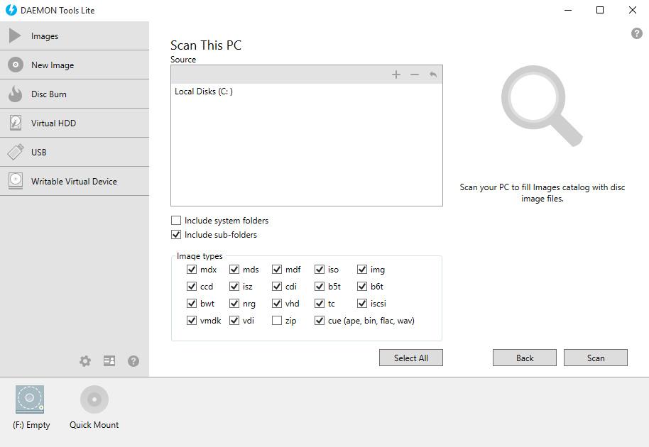 DAEMON Tools Lite windows