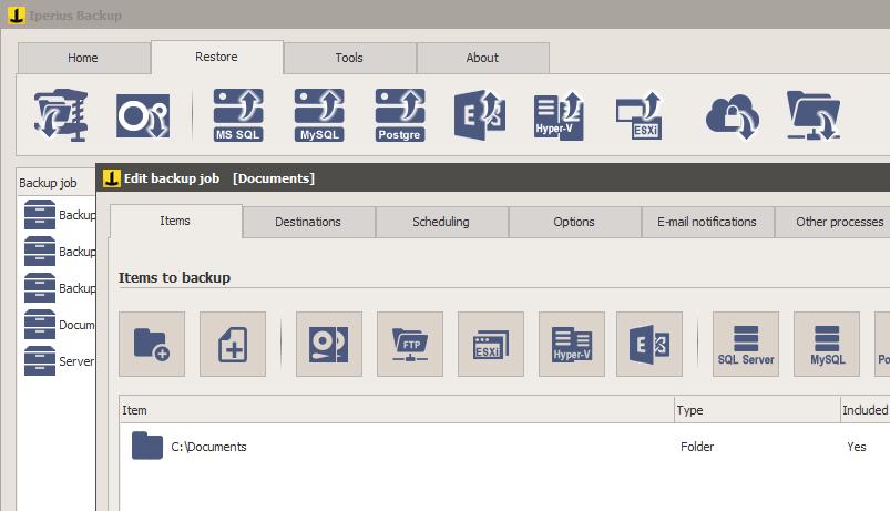 Iperius Backup windows