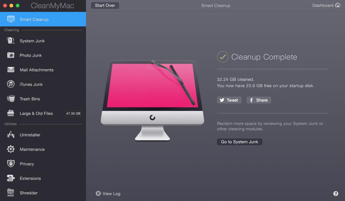 CleanMyMac X windows
