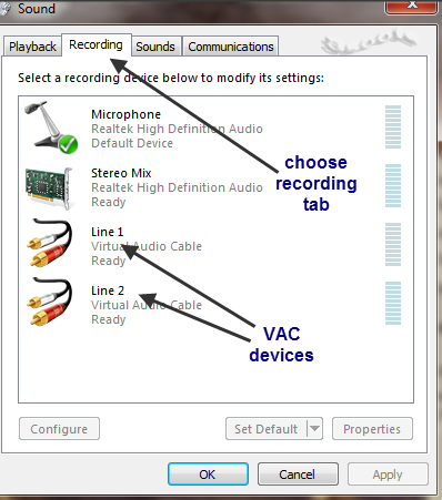 Virtual Audio Cable windows