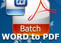 atch Word To PDF Converter