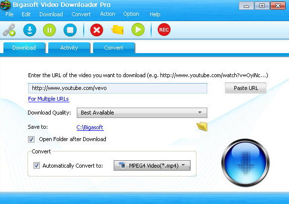 Bigasoft Video Downloader Pro windows
