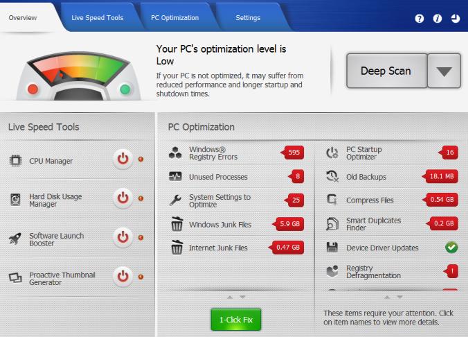 Uniblue PowerSuite windows