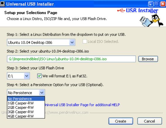 Universal USB Installer windows