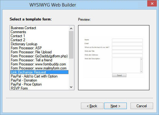 WYSIWYG Web Builder windows
