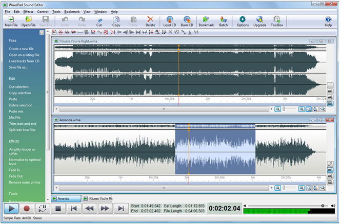 WavePad Audio And Music Editor windows