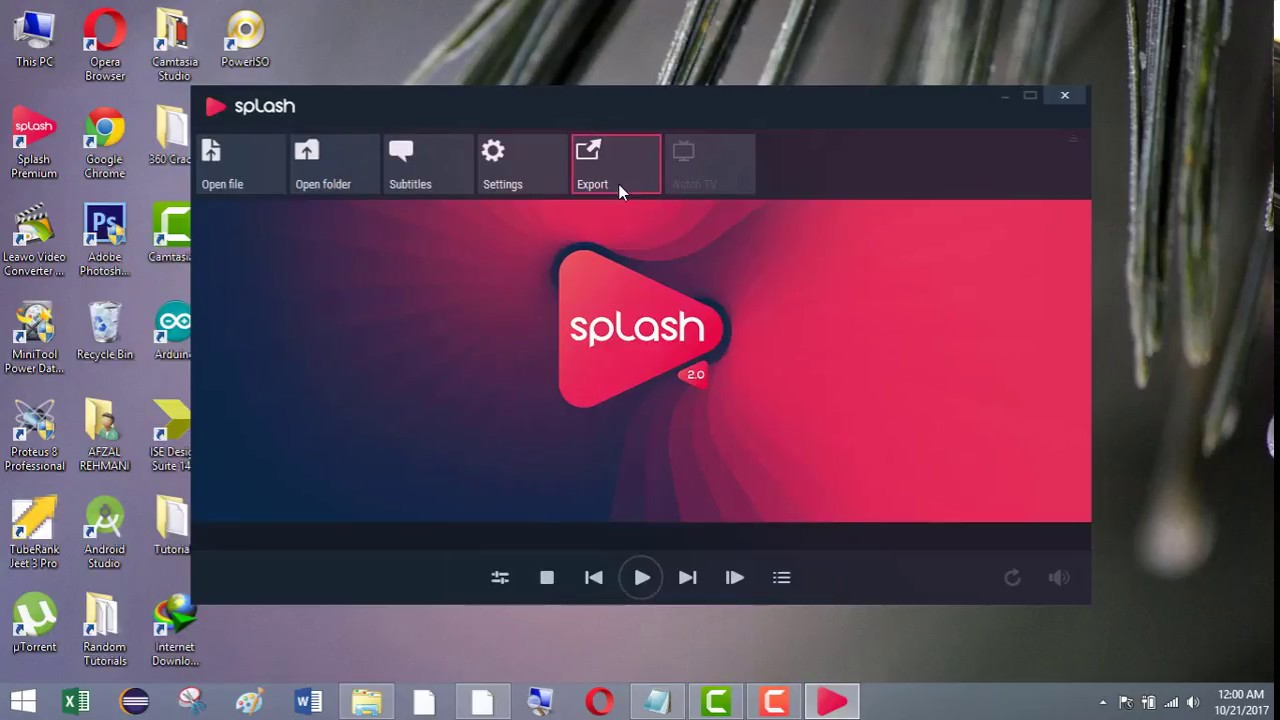 Splash Premium windows