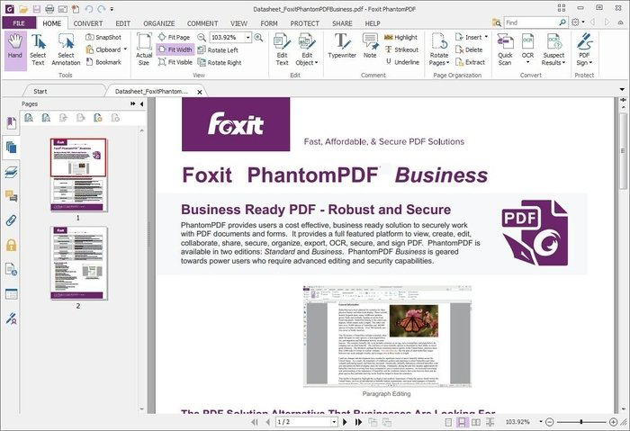 Foxit PhantomPDF Business windows