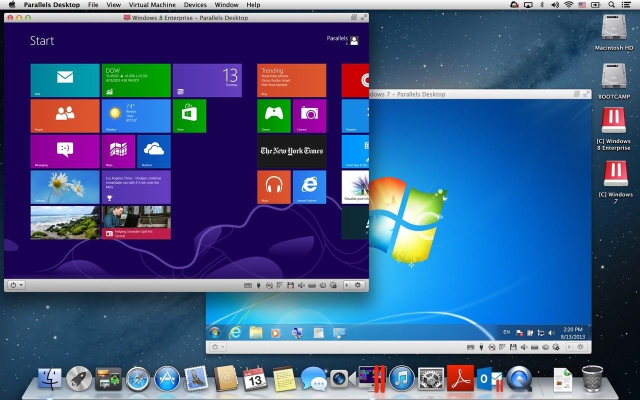 Parallels Desktop windows