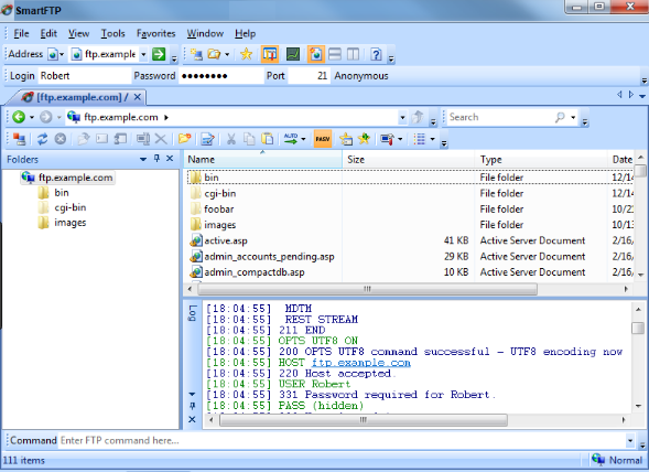 SmartFTP Enterprise windows