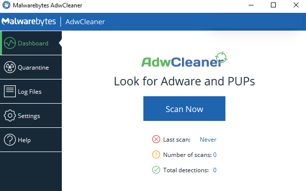 Malwarebytes AdwCleaner windows
