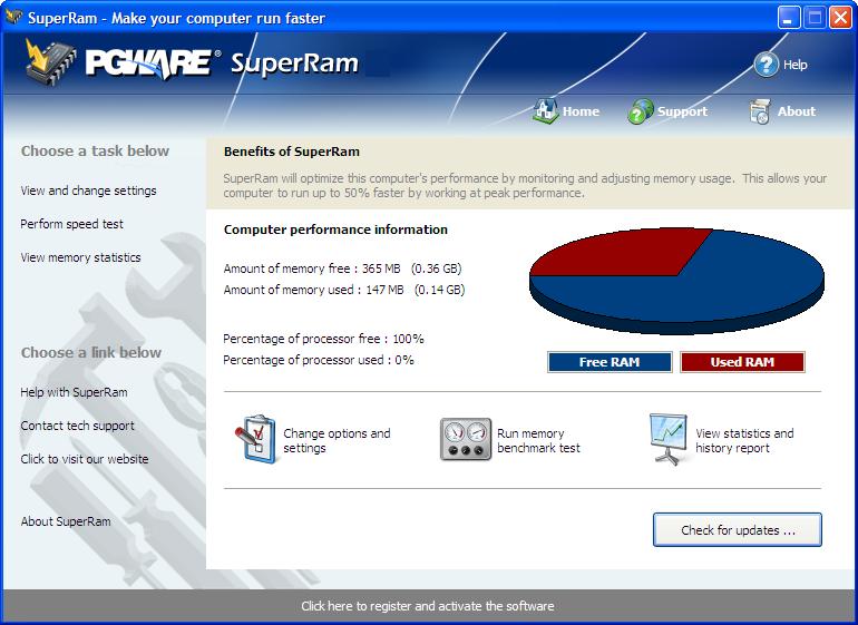 PGWare SuperRam windows