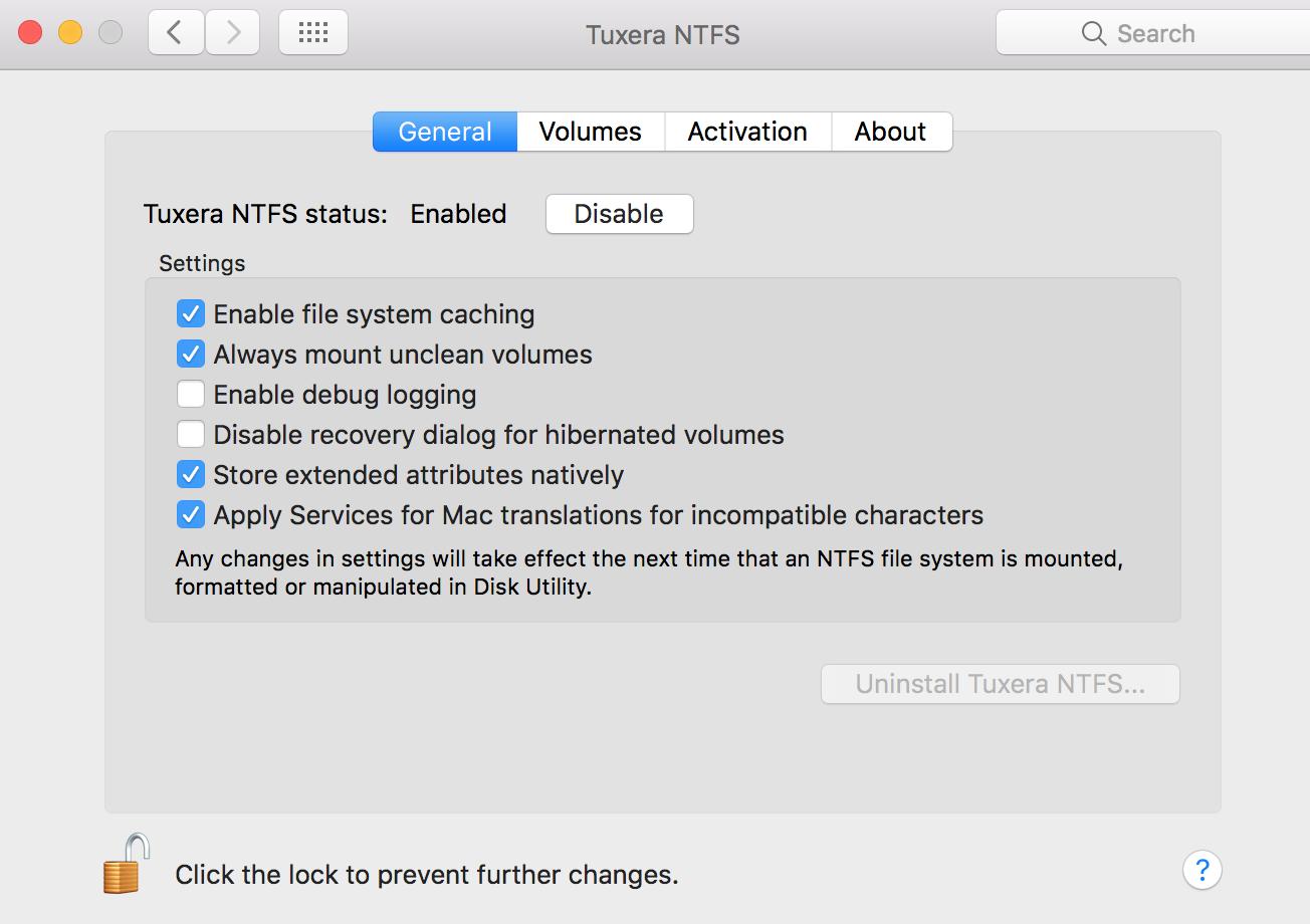 Tuxera NTFS windows