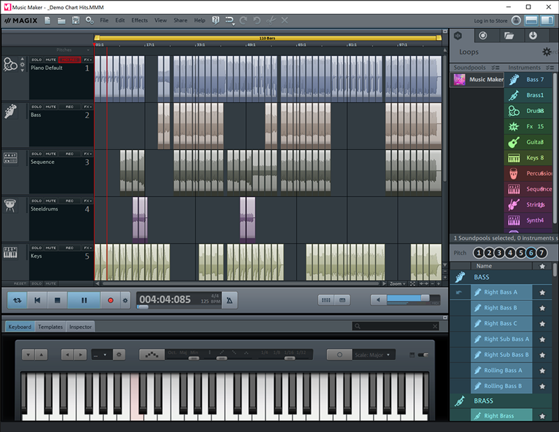 Magix Music Maker windows