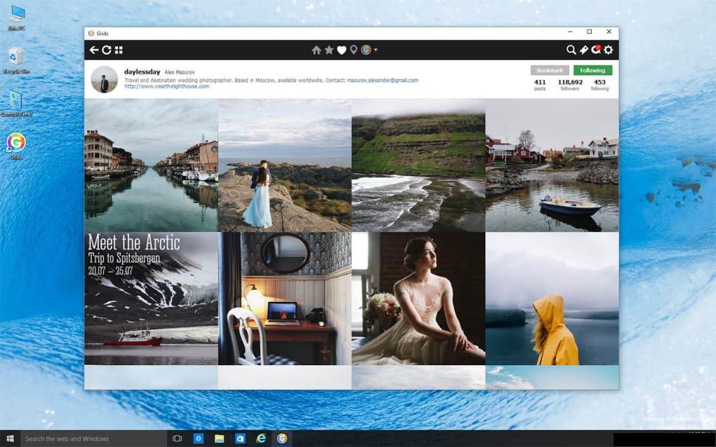 Grids for Instagram windows