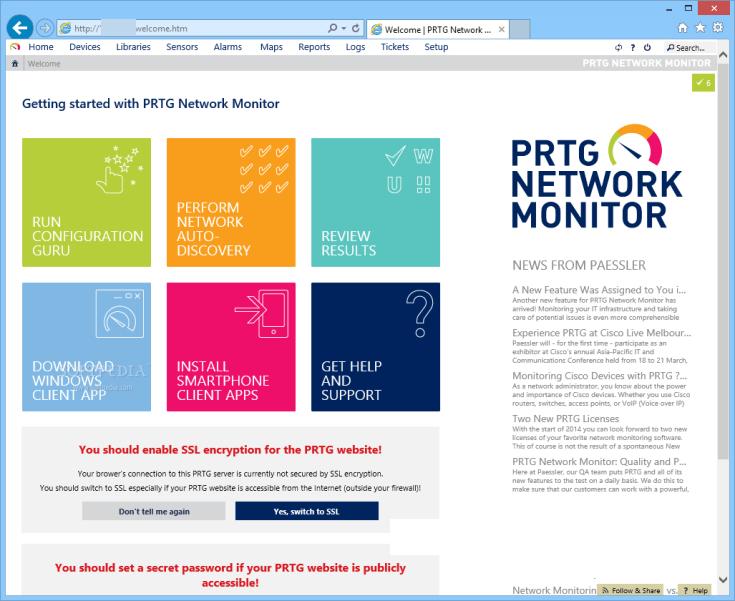 PRTG Network Monitor windows