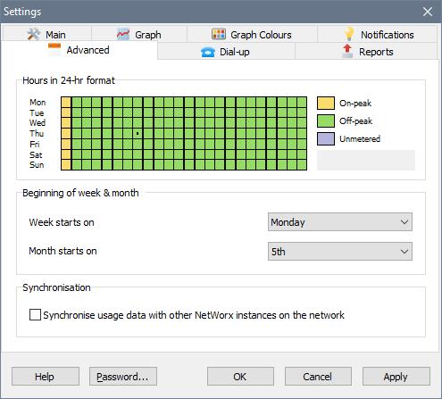 SoftPerfect NetWorx windows