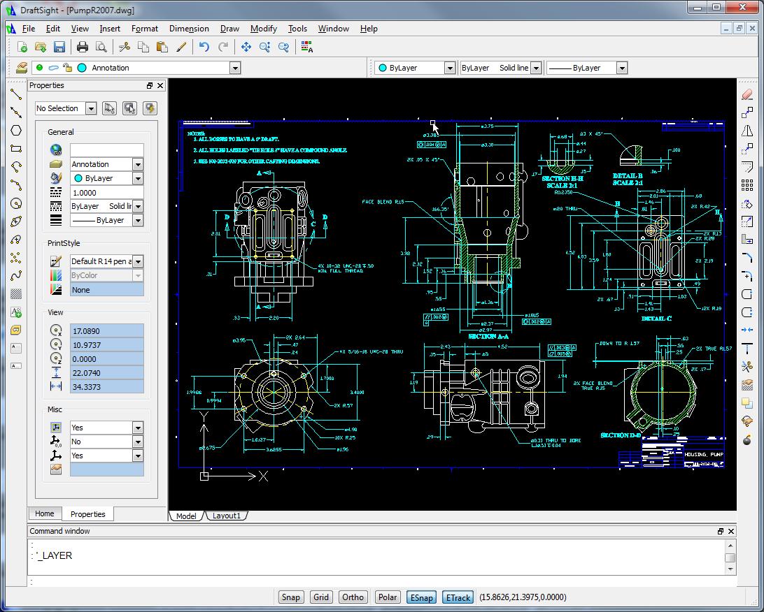 DraftSight windows