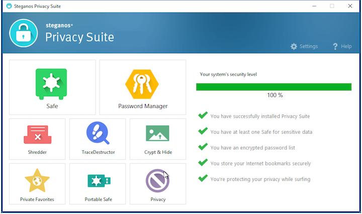 Steganos Privacy Suite windows