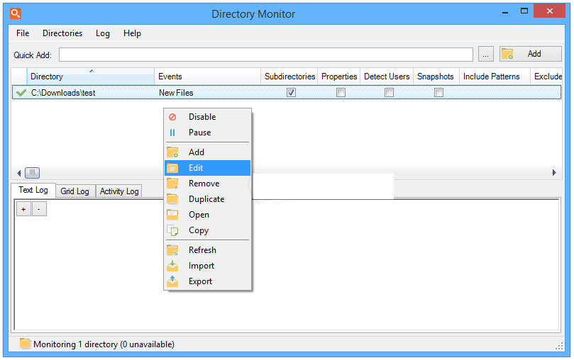 Directory Monitor Pro windows